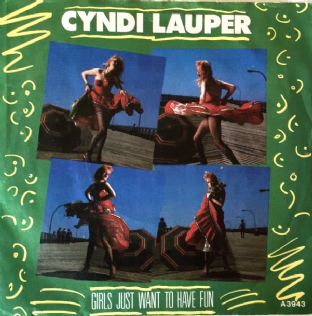 "Cyndi Lauper ‎- Girls Just Want To Have Fun (7"") (EX/VG+)"